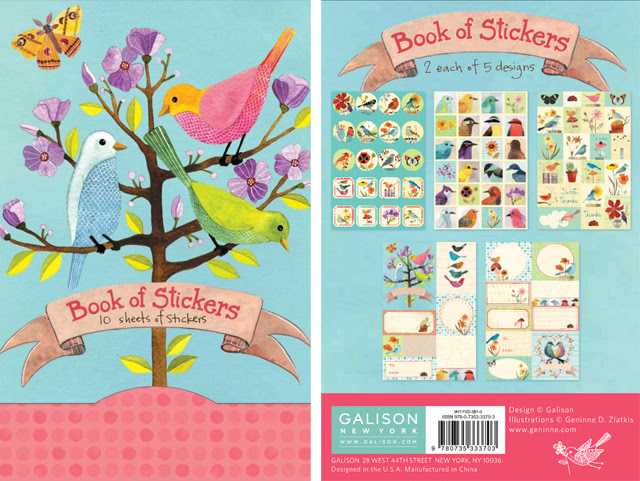 My birdie stickers for Galison