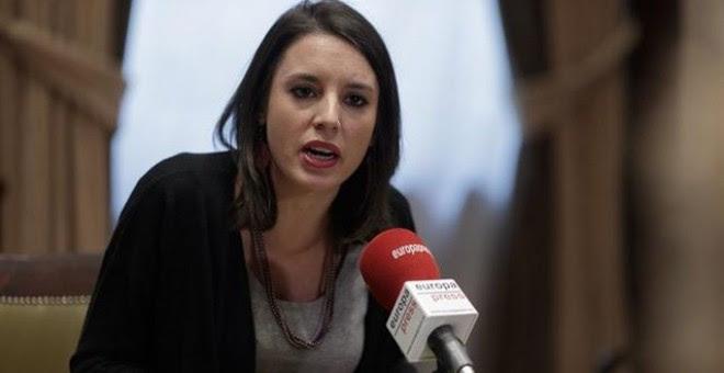 La portavoz parlamentaria de Unidos Podemos, Irene Montero /EUROPA PRESS