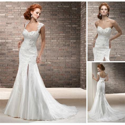 Fashion Design 2014 High Split Sexy Mermaid Wedding Dress