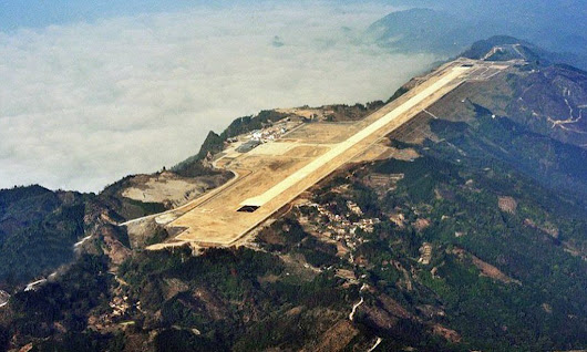 China flattens mountain for £80m airport with terrifying runway