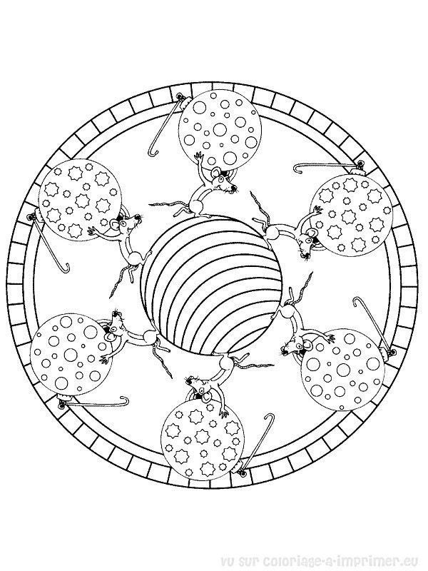 Coloriage à Imprimer Coloriage Mandala Noel 025