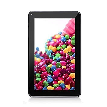 "iRULU eXpro X1 Pro 9"" Google Android 4.4 KitKat Quad Core 16GB Tablet PC- Fronte nera e dietro nero"