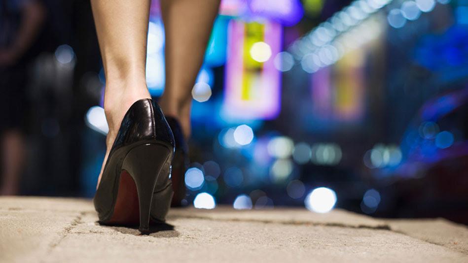 Image result for woman walking in heels
