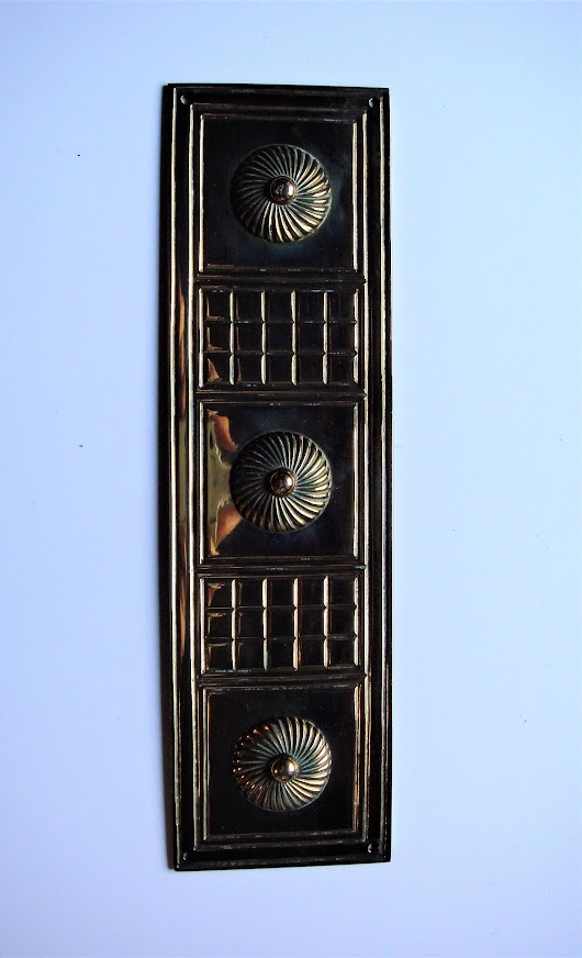 Victorian Cast Brass Finger Plate by W.Tonks & Son 12 Available
