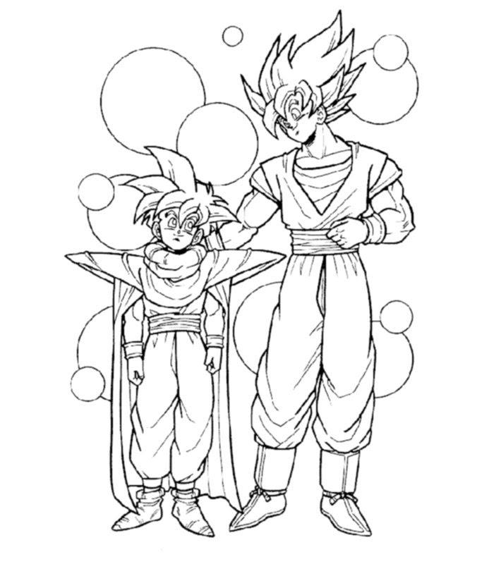 Dragon Ball Z 14 Disegni Per Bambini Da Colorare