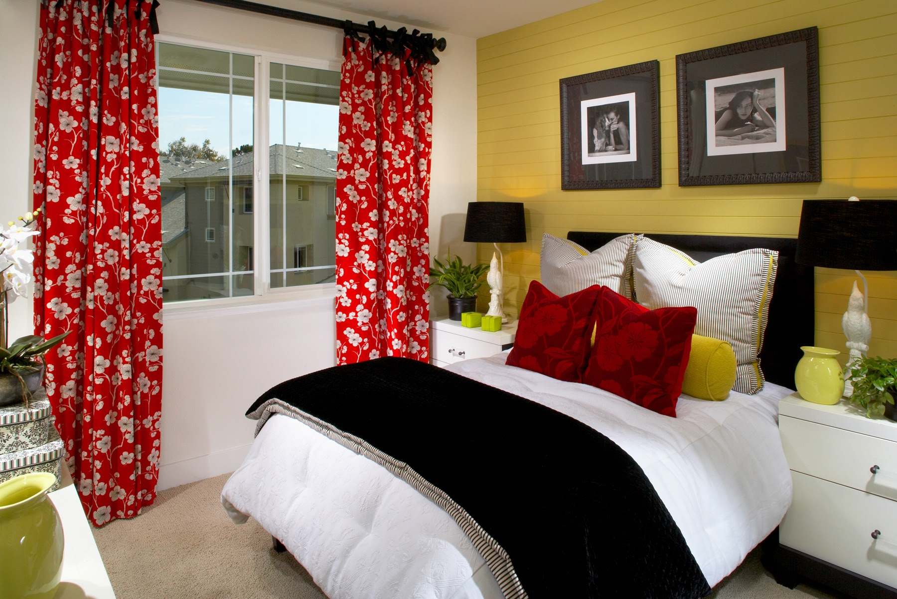 Black White Yellow Bedroom Ideas Home Design Decorating And Grey