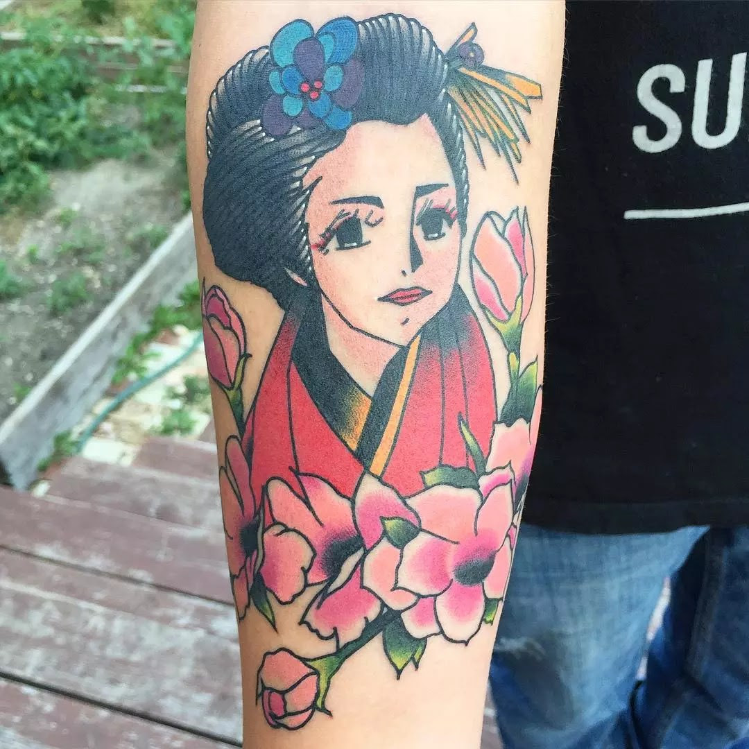 50 Colorful Japanese Geisha Tattoo Meaning And Designs Of 48