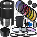 Sony E 55-210mm f/4.5-6.3 OSS - SEL55210 Professional Lens Bundle (Silver)