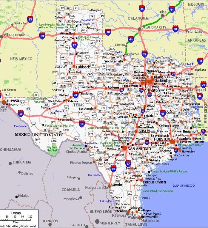 Texas Driving Map | Business Ideas 2013