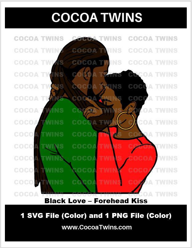 Download Digital Download - Black Love - Forehead Kiss - SVG ...