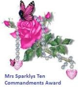 Mrs. Sparklys Ten Commandments Award