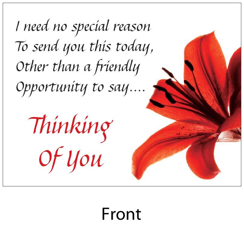 Angelas Poems Shop Thinking Of You With Envelope