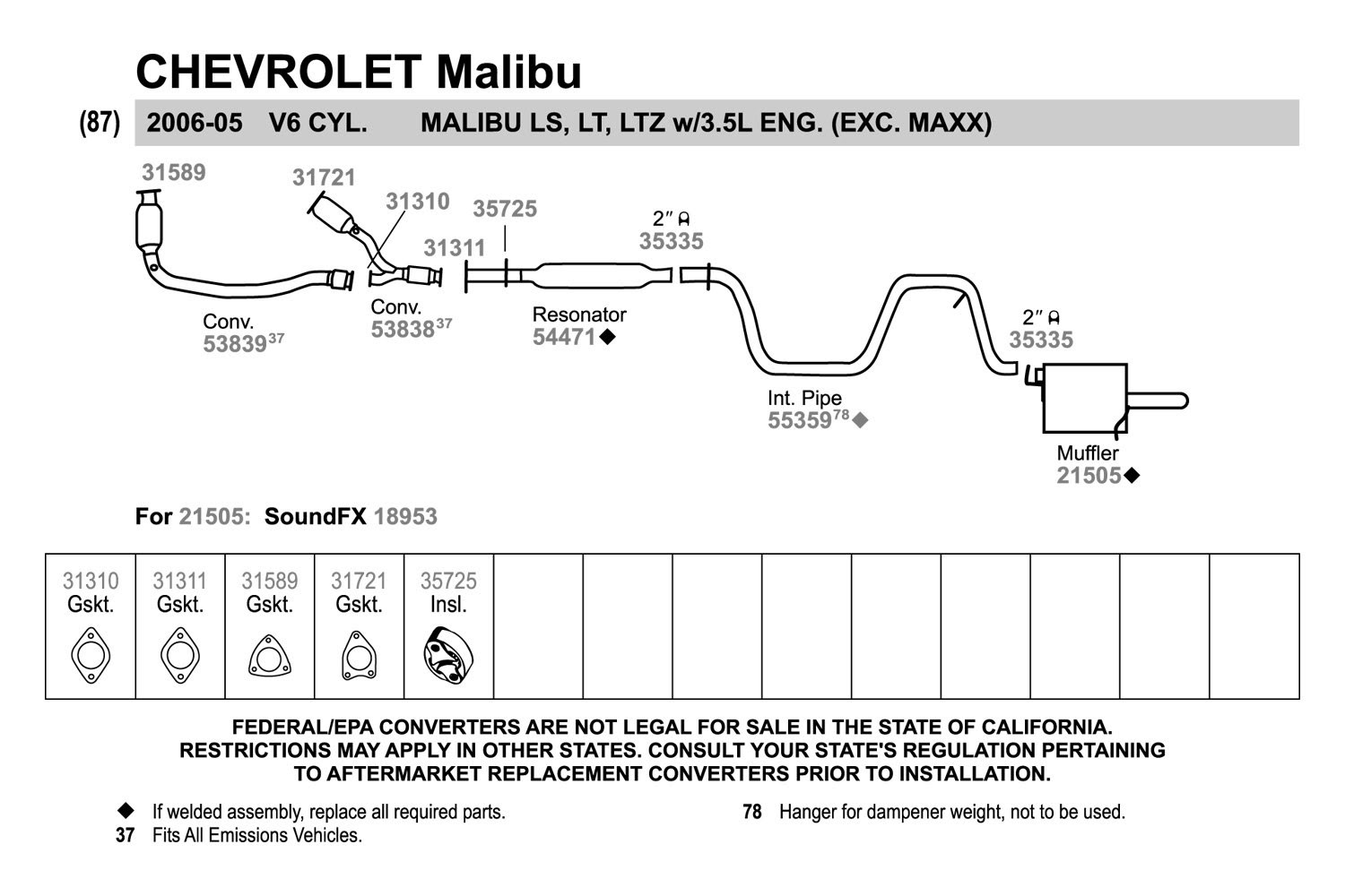 29 2004 Chevy Malibu Exhaust System Diagram