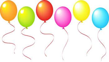 """картинка """"Вітання з днем народження. Повітряні кульки"""""""