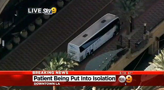 Ebola scare on LAX shuttle briefly closes Union Station bus plaza