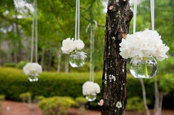 Wedding Flower Hanging From Tree