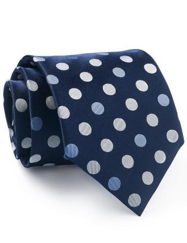 Mẫu Cravat Đẹp 12 - Màu Xanh Đen Chấm Bi Trắng