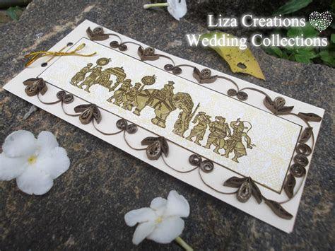 Kandiyan Elephant Wedding Card   Liza Creations Wedding