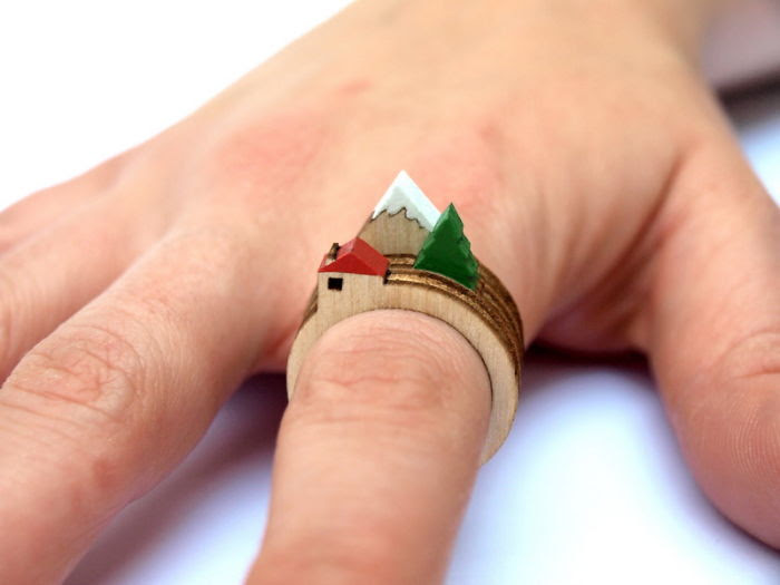 Landscape Wooden Ring