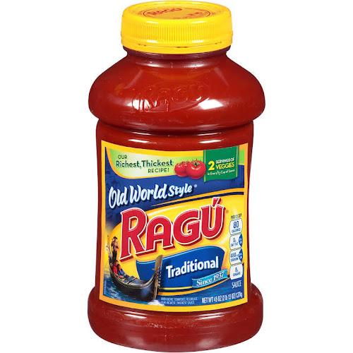 Ragu Old World Style Pasta Sauce, Traditional - 45 oz jar