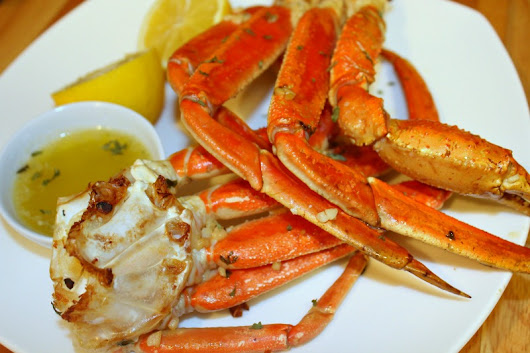 Perfectly Baked Crab Legs with Spicy Garlic Butter - Forks 'n' Flip Flops