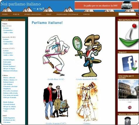 http://parliamoitaliano.altervista.org/