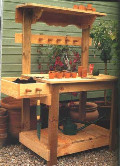 Potting Bench Plans - Easy DIY Woodworking Projects Step by Step ...