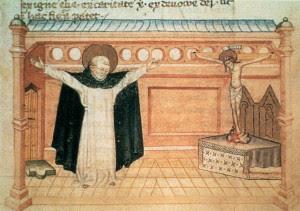 św. Dominik podczas modlitwy