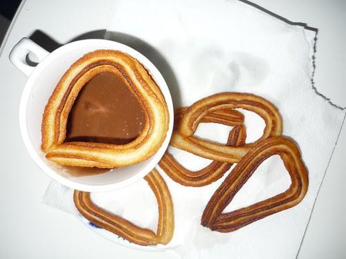 Chocolate churros corazón (1)