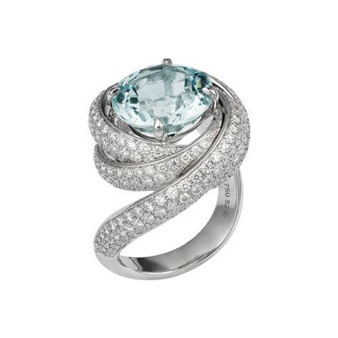 Trinity de Cartier ring   White gold, diamonds, aquamarine