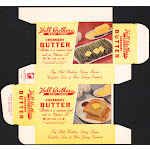 Vintage box HALL BROTHERS DAIRY FARMS Creamery Butter 1960 Montgomery Alabama