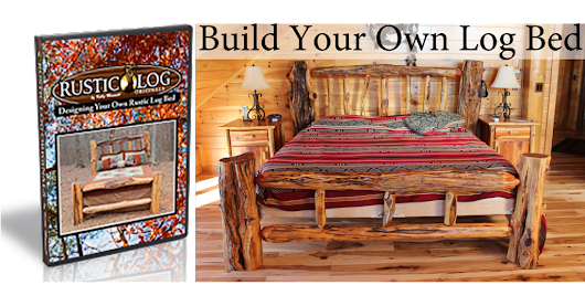 "Rustic Log Originals ""Design and Craft your own Rustic Log Bed"" DVD--FREE SHIPPING"