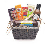 9pc Gourmet Summer Sausage and Cheese Gift Basket - Small by Christmas Central