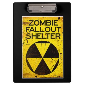 Zombie Fallout Shelter Walking Clipboard