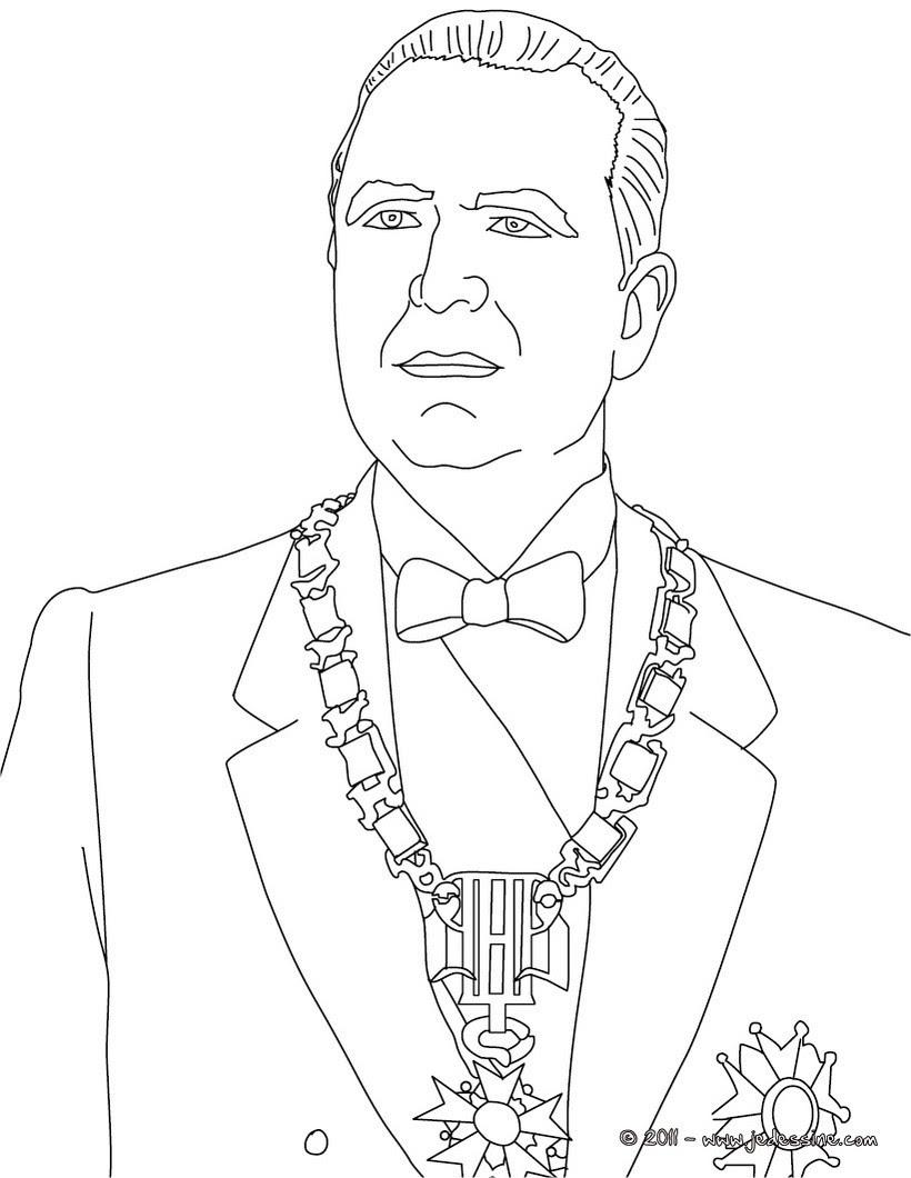 Coloriage du Président GEORGE POMPIDOU