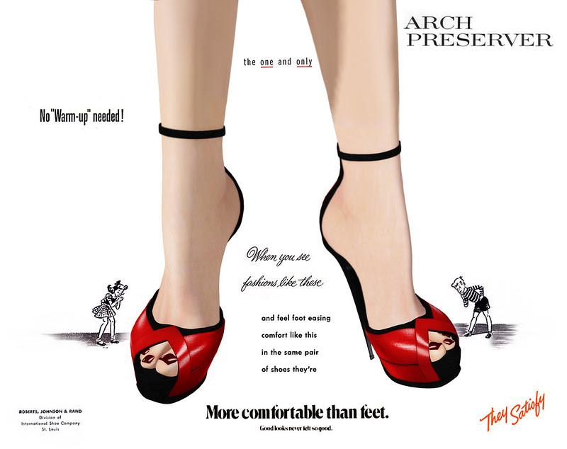 Shoetopia 2013: Cherry-Wrapped High Feet.