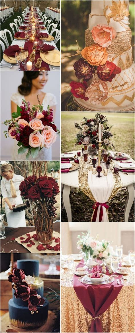 22 Romantic Burgundy and Rose Gold Fall Wedding Ideas   My