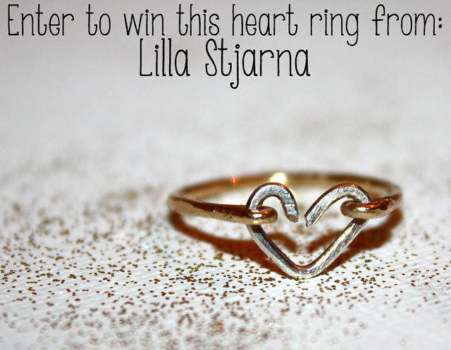 Enter to win this heart ring from Lilla Stjarna