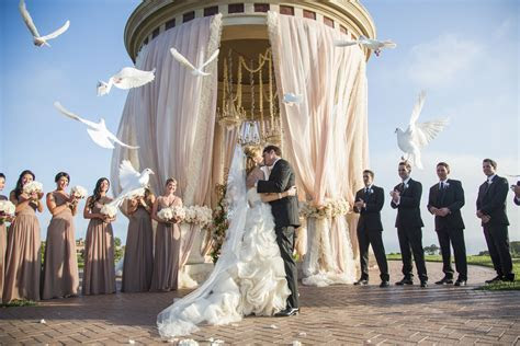 White Doves in Wedding Ceremony   Elizabeth Anne Designs