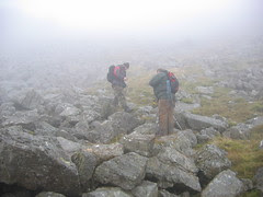 Flying Fortress: Arenig Fawr: Sean and Matt in the fog