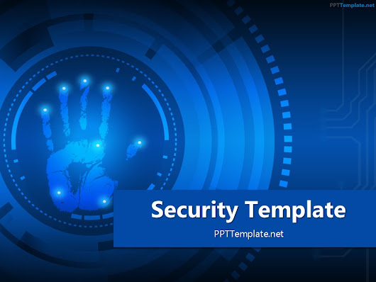 Free Security Palm Print PPT Template