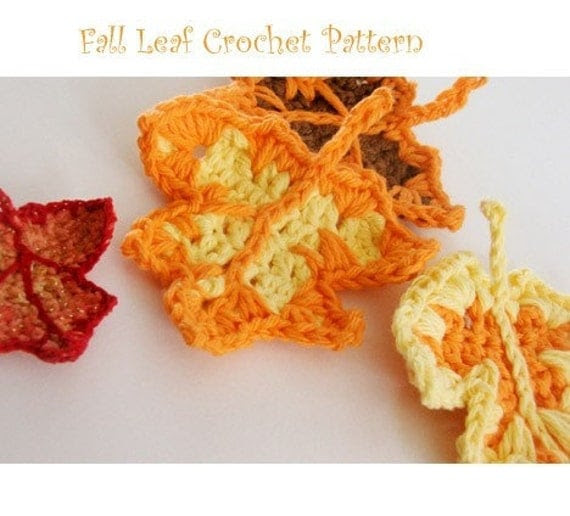 PATTERN - Fall Leaf Crocheted Ornament or Applique
