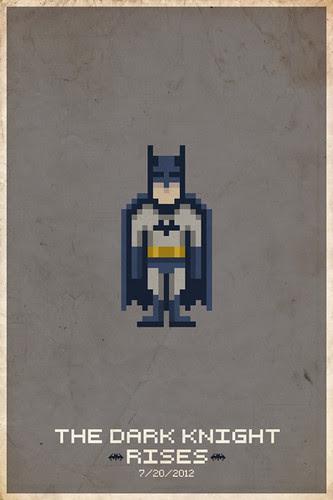 The Dark Knight Rises Pixel Poster