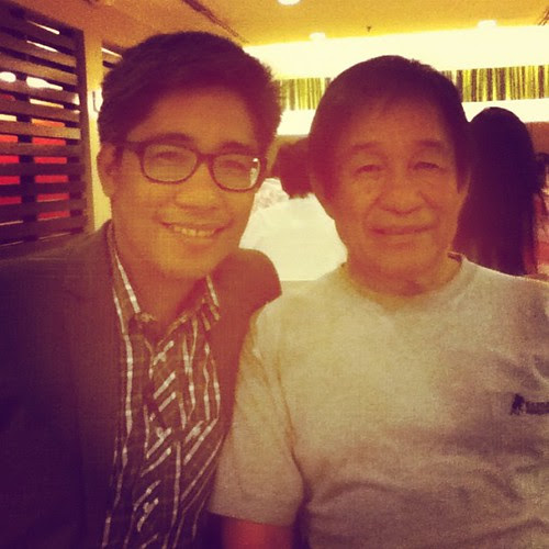 @arveecee and Tatay, who's in Manila for the week