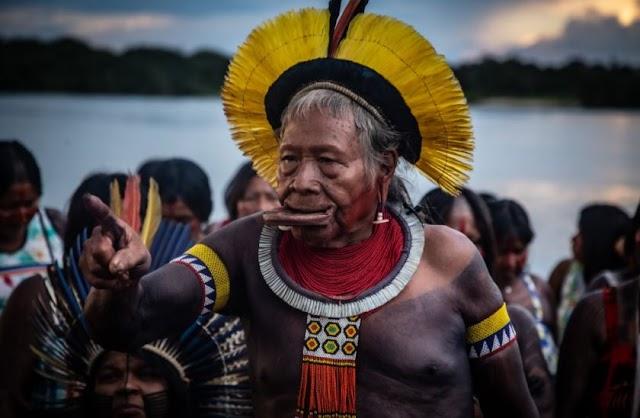 Candidato ao Nobel da Paz, Raoni pede fim do garimpo em terras indígenas