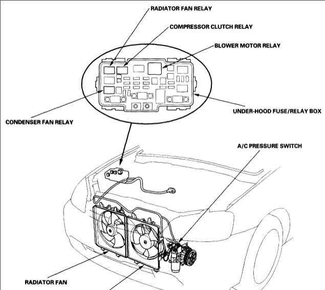 schematics and diagrams: 2001 Honda civic A/C compressor relay