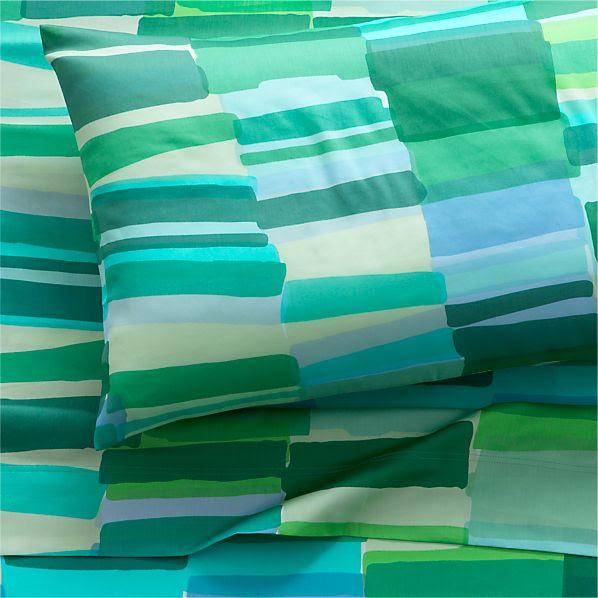 Marimekko Tilkkula Seaglass Twin Extra Long Sheet Set in Sheet ...