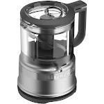 KitchenAid 3.5 Cup Mini Food Processor KFC3516, Light Silver