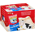 Horizon Organic Milk, Lowfat - 12 pack, 8 fl oz boxes