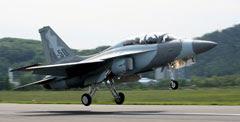 GE F404-102 엔진을 탑재한 FA-50